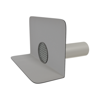 Round through wall outlets with integrated PVC sleeve