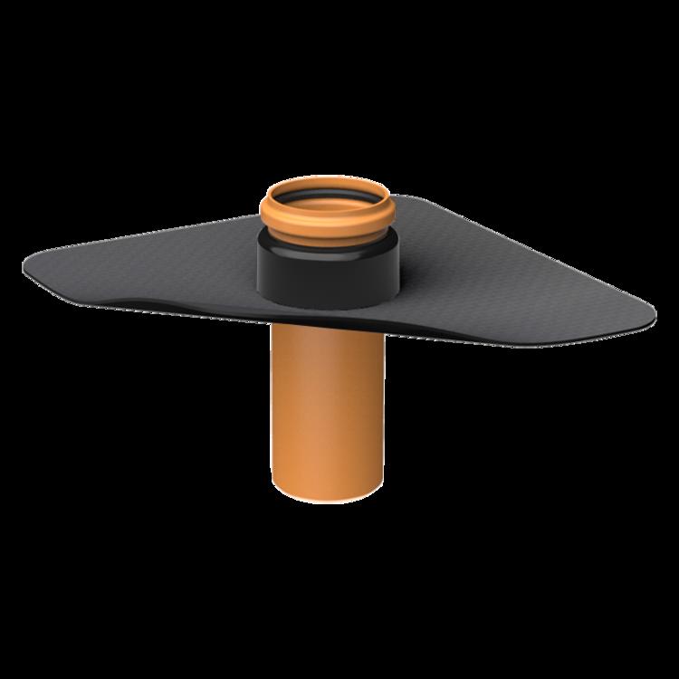 Penetration through the vapor barrier XL with integrated custom made sleeve