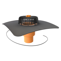 Vertical heated roof outlets with integrated custom made sleeve
