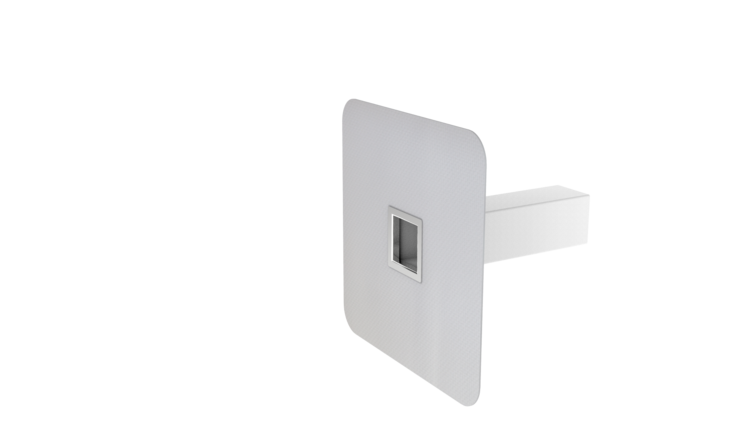 Squared safety overflows with integrated PVC sleeve
