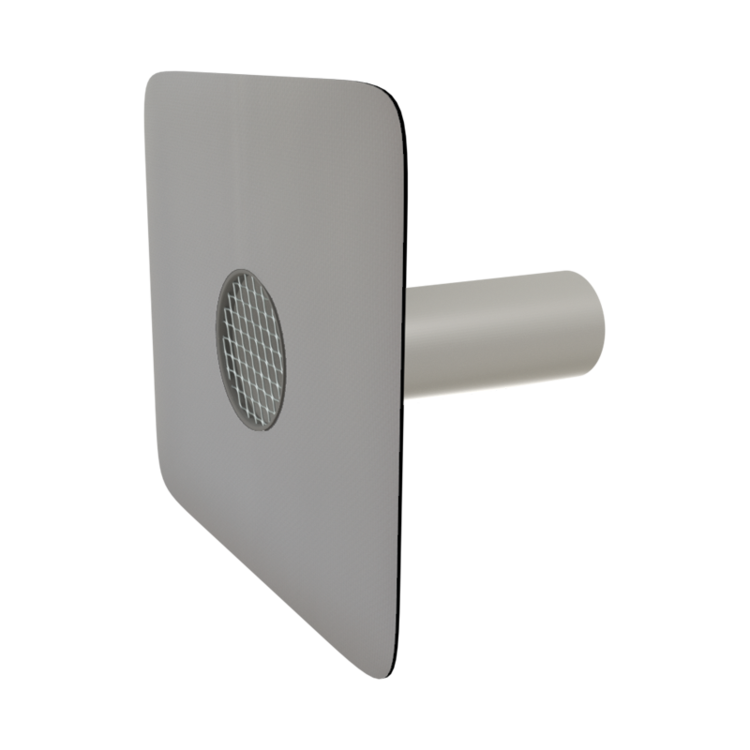 Round safety overflows with integrated PVC sleeve