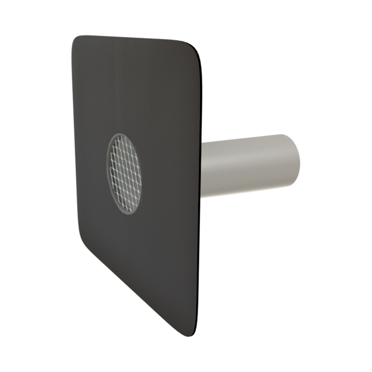 Round safety overflows with integrated custom made sleeve
